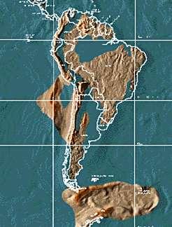 Mapa América del Sur 2012