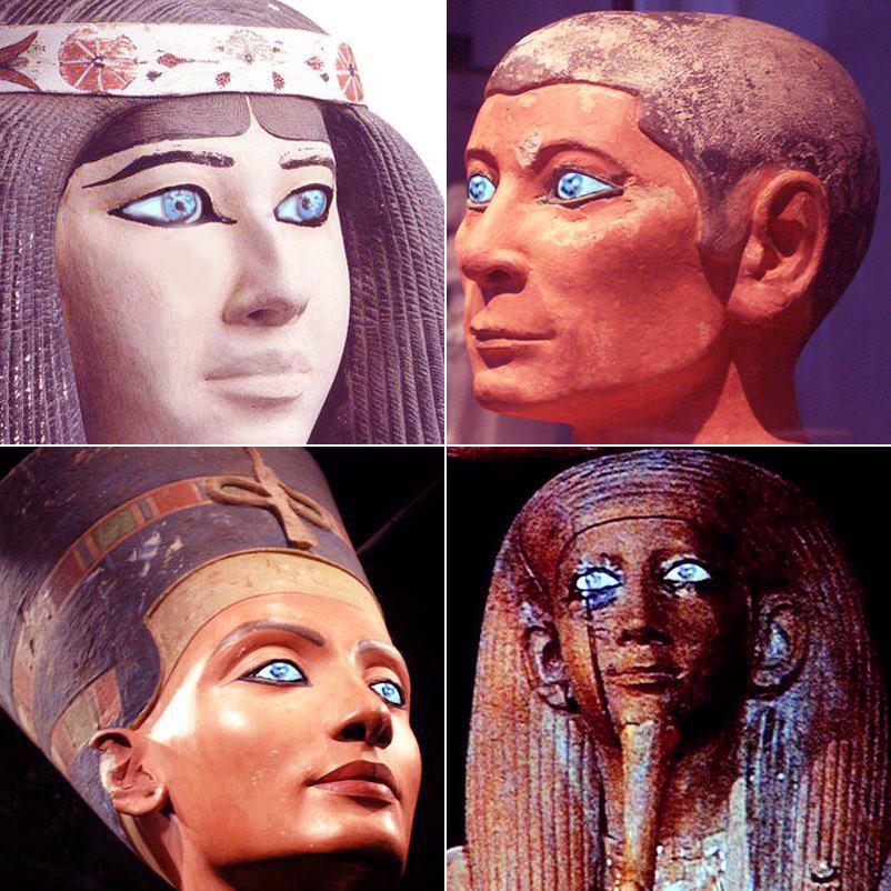 Antiguos egipcios de ojos azules