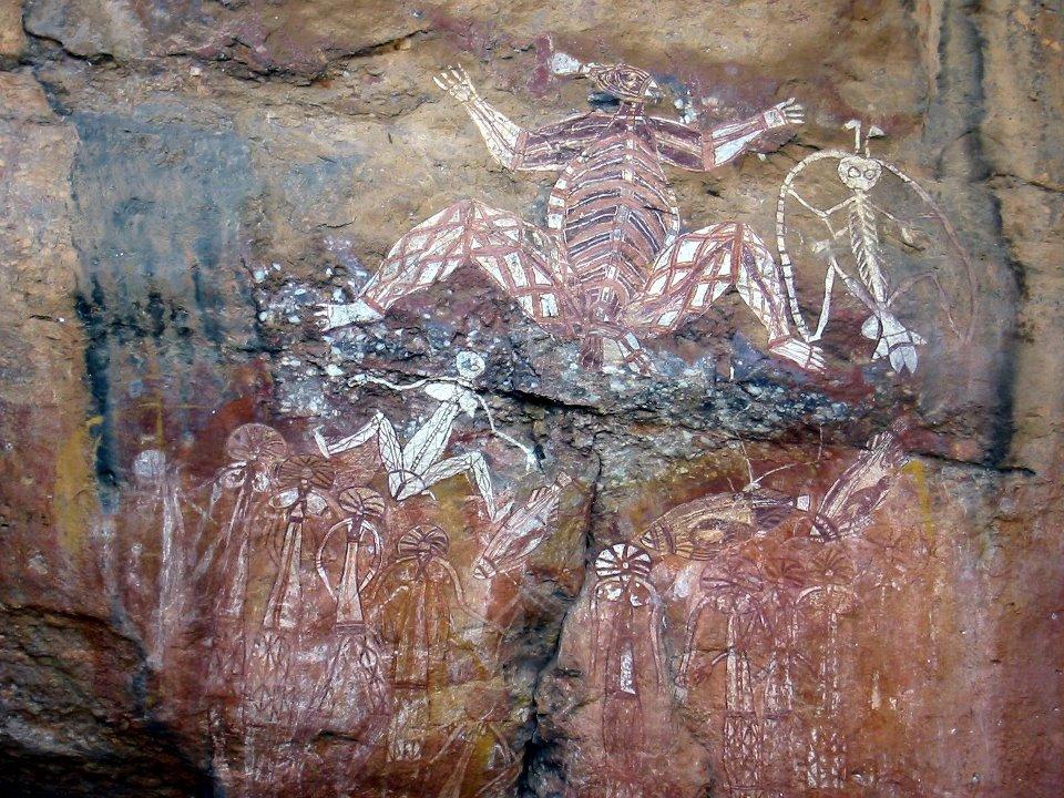 Supuesta pintura rupestre de extraterrestres