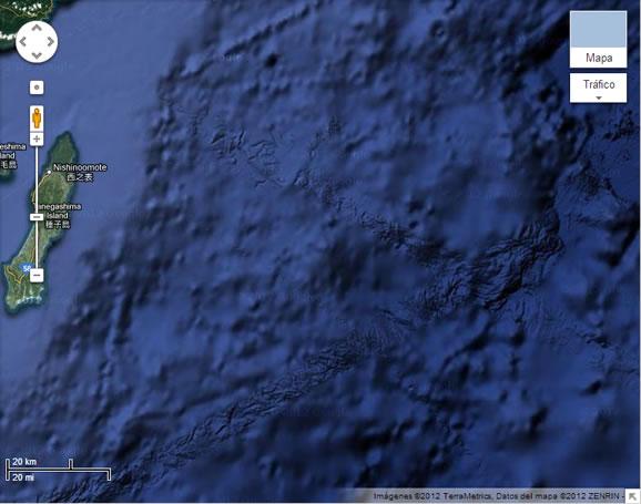 Evidencia de pistas en el fondo marino muy cerca al Japón