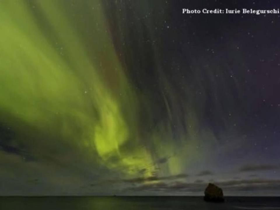 Rostro alienígena en Aurora Boreal