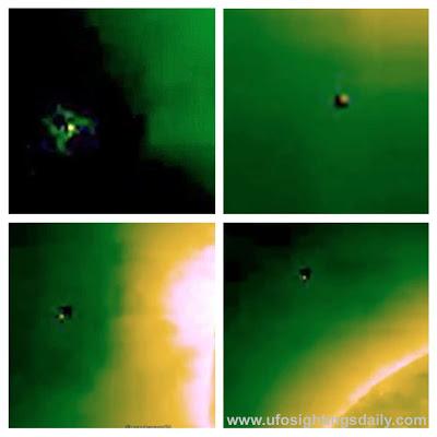 OVNIS orbitan cerca al sol