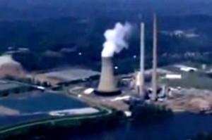 Esferas (OVNIS) sobre central nuclear