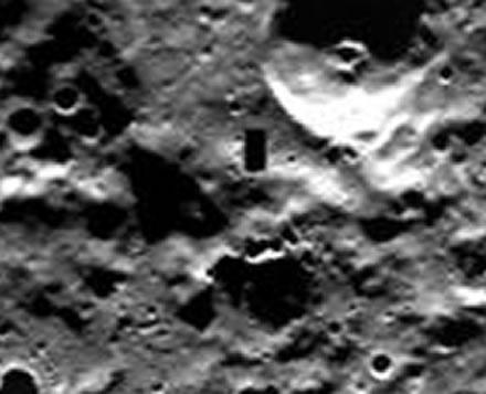 Supuesta puerta en Mercurio