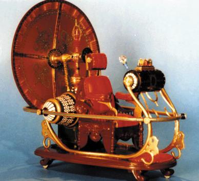 Supuesta réplica de la máquina que fotografía el pasado