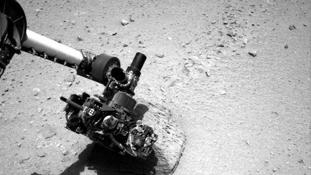 Curiosity trabajando en Marte