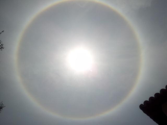 Halo solar en Lima - diciembre 2012