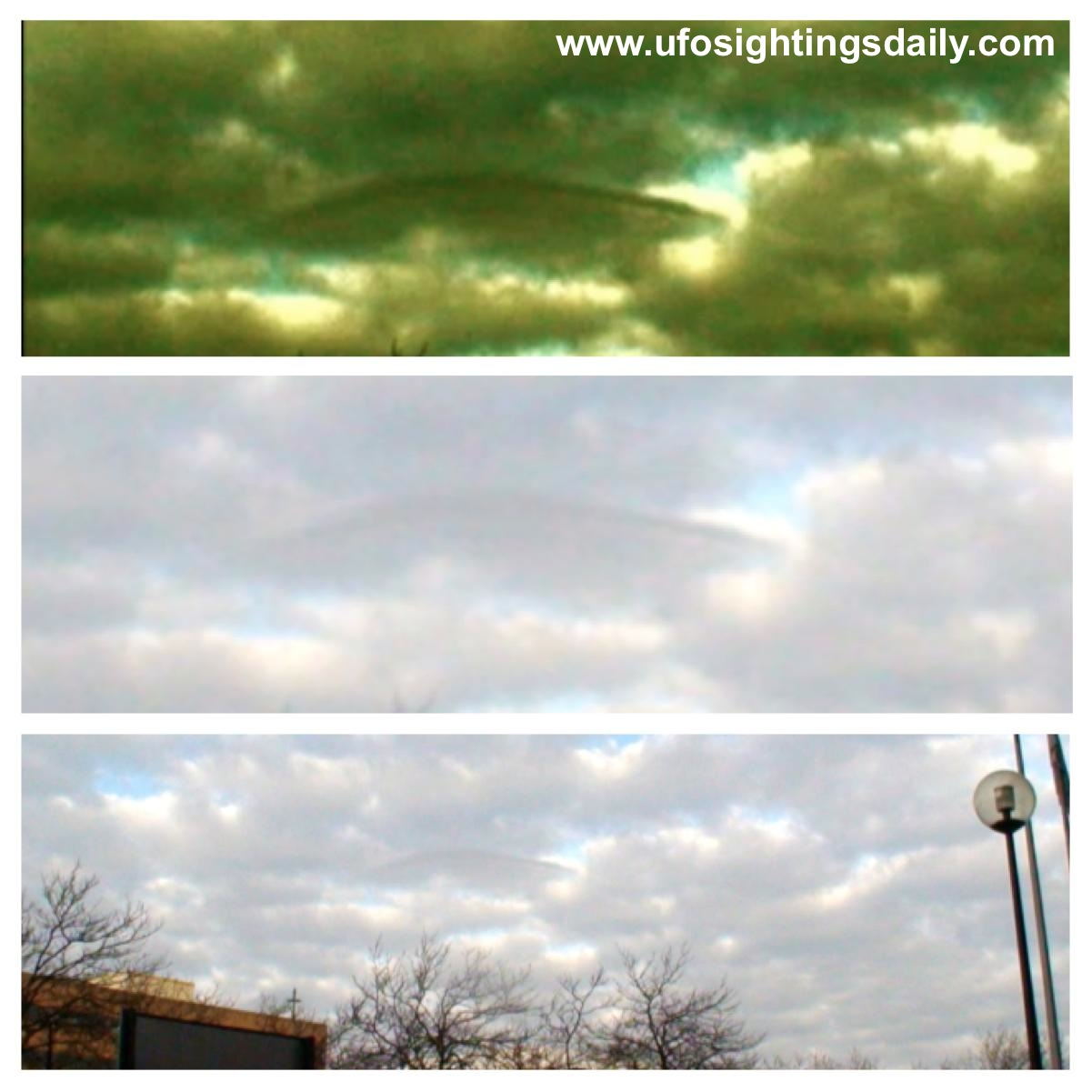 OVNI camuflado entre las nubes en Inglaterra