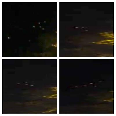 OVNIS en formación sobre San Francisco, California