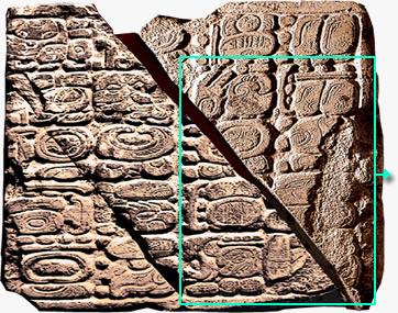 La piedra de Tortuguero Maya