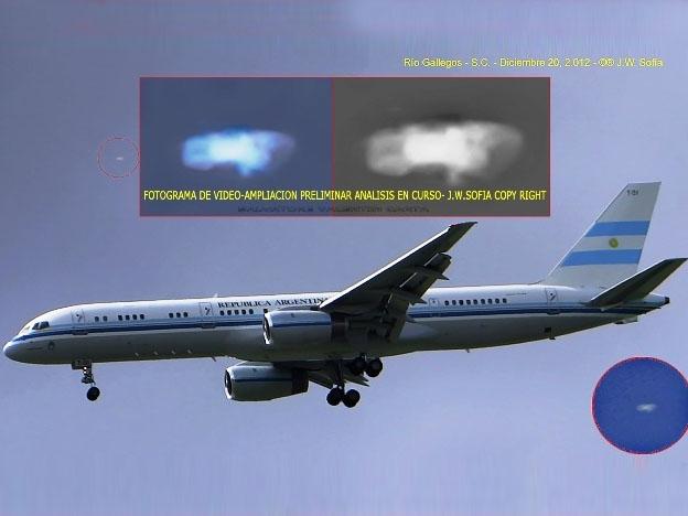 ¿OVNI filmado junto al avión presidencial argentino?