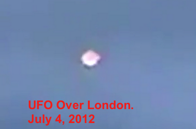 OVNI sobre Londres en Julio del 2012