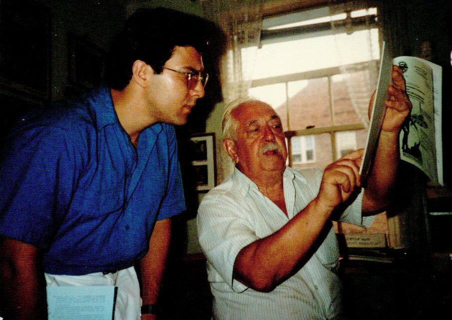 Alejandro Agostinelli junto a Colman Von Keviczky (1986)