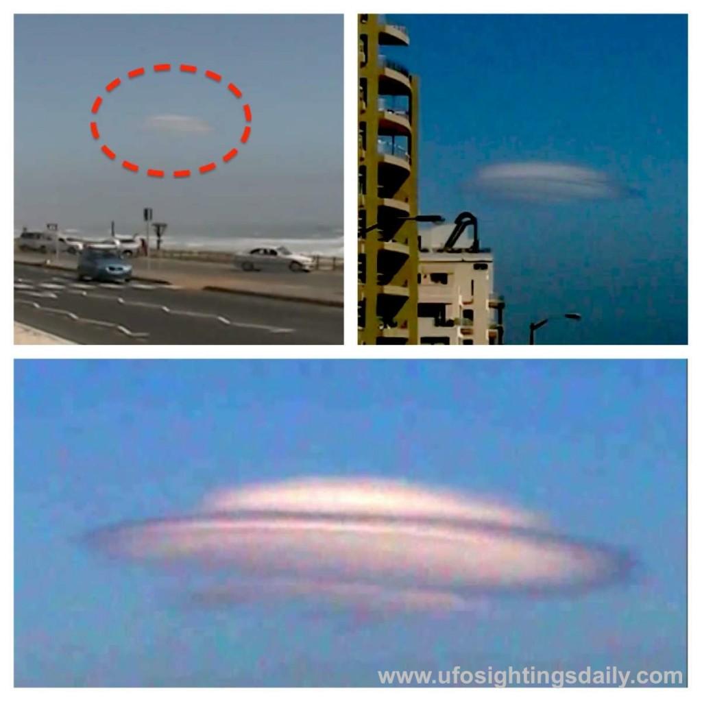 Nube en forma de OVNI sobre Sudáfrica