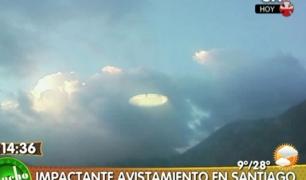 Supuesto OVNI en Santiago de Chile
