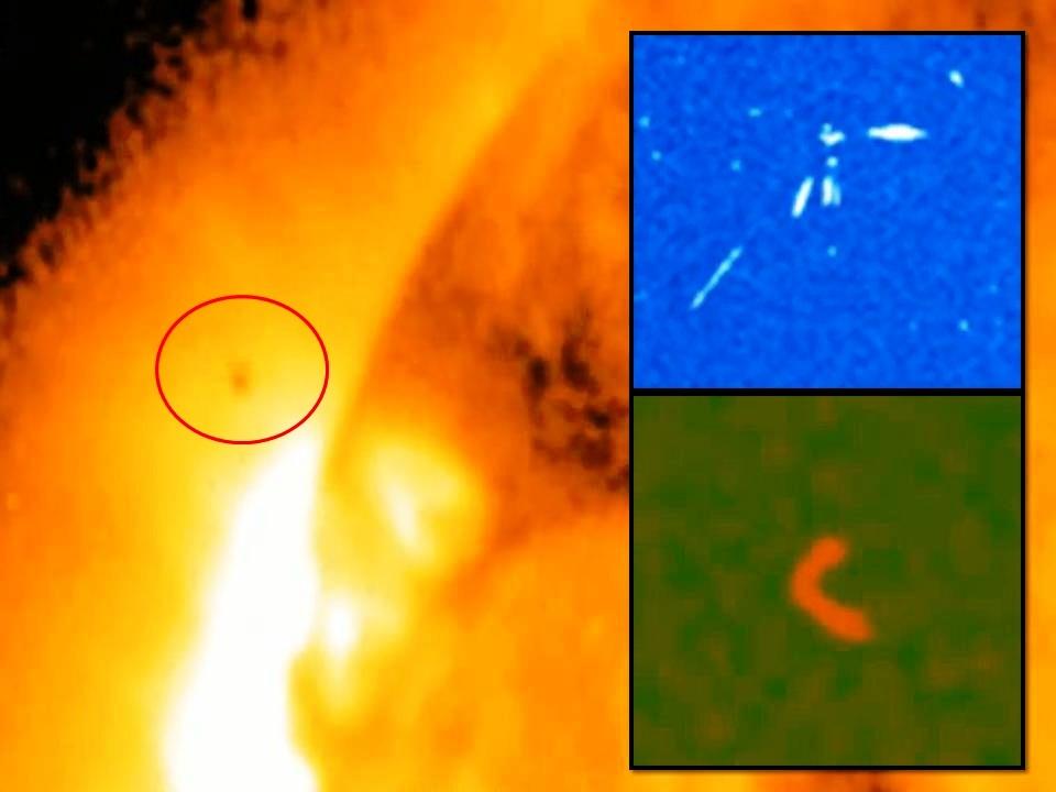 Anomalías y OVNIS cerca del sol