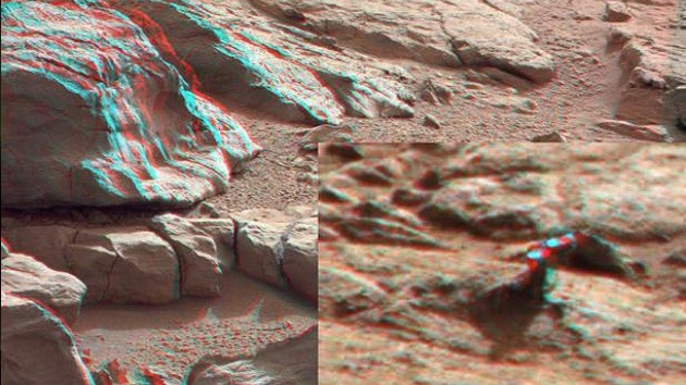 Curiosity encuentra en Marte un misterioso trozo de metal