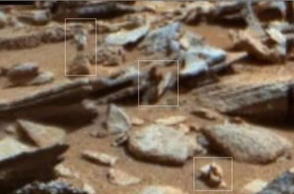 Anomalías captadas por Curiosity en Marte