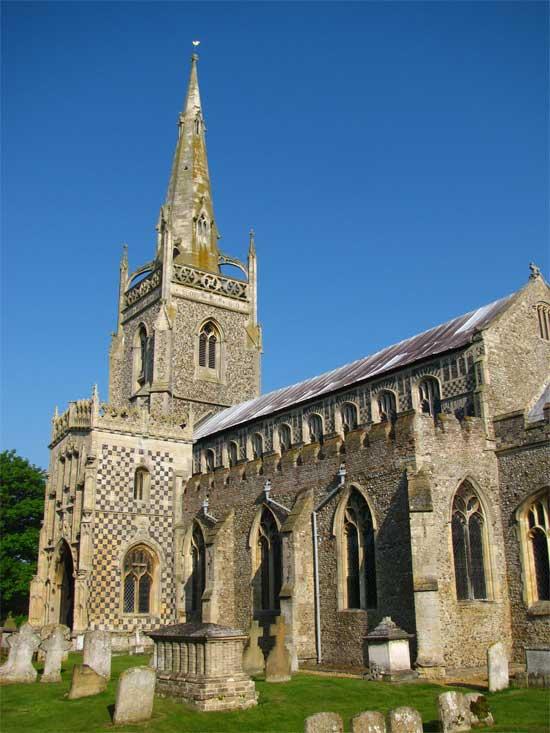 Iglesia de St Mary en Woolpit. Foto original de wiggyretard