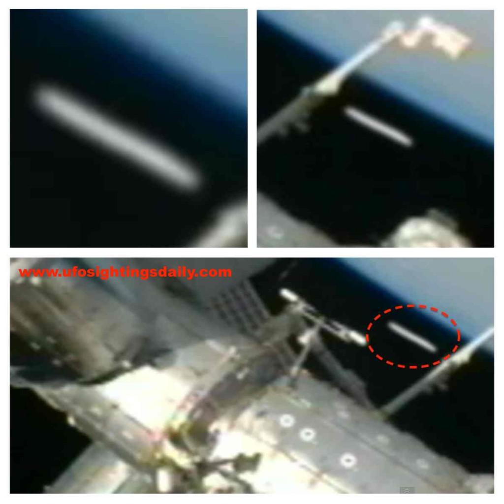 OVNI muy cerca de la ISS