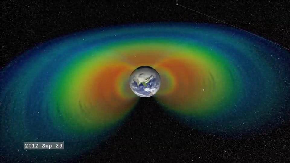 Un tercer cinturón de Van Hallen protegió a nuestro planeta de las llamaradas solares en Septiembre de 2012, hasta que fue aniquilado por una de gran magnitud.