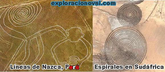 Comparación entre Líneas de Nazca y Espirales en Sudáfrica