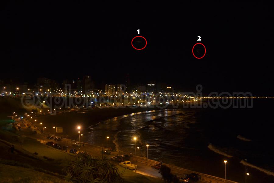 Extraños objetos aparecen en fotografía tomada en Mar del Plata