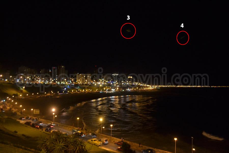 Otra fotografía tomada en Mar del Plata muestra similar anomalía