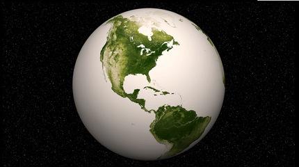 NASA muestra un mapa de vegetación en la Tierra