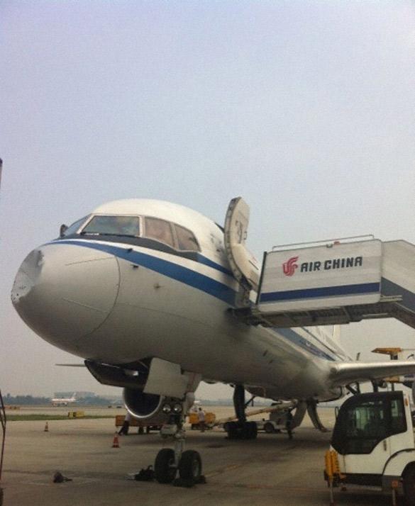OVNI es sospechoso de causar daño en nariz de avión en China