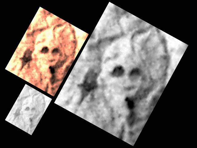 Supuesto Cráneo fosilizado en Marte
