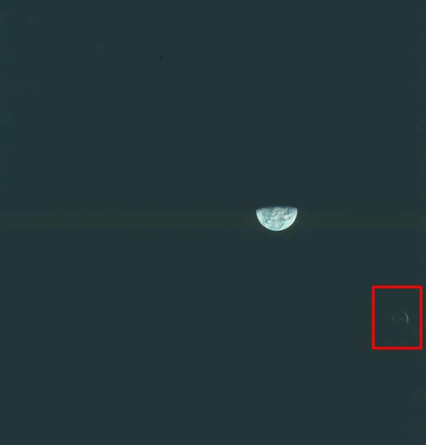 Anomalía en fotografía de misión Apolo 8