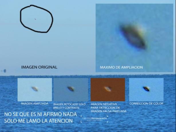 Argentina: OVNI fotografiado en las islas del río de Victoria