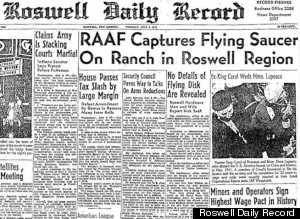Titular en Roswell Daily Record acerca del incidente OVNI en Roswell