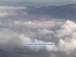 Fotografías recibidas: Tres objetos voladores desconocidos captados desde vuelo sobre Teotihuacán de Arista, México