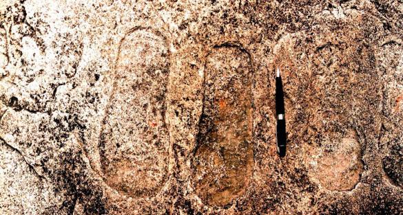 India: huellas en roca, ¿evidencia de antiguos extraterrestres?