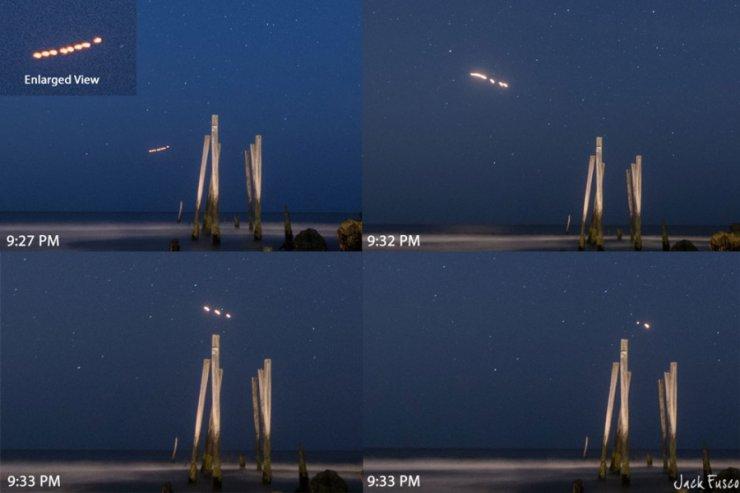 Extrañas luces en Ocean City, New Jersey