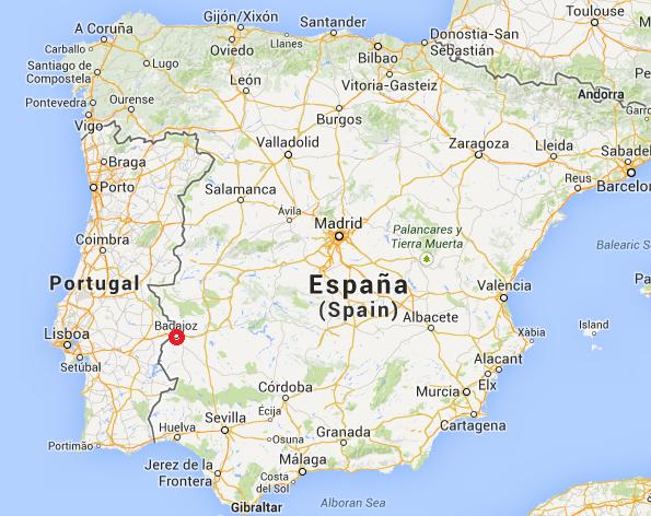 Bajadoz, España, ciudad donde se registró el extraño fenómeno en el cielo