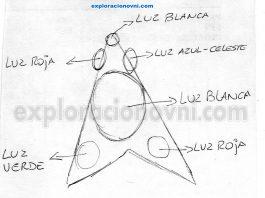 Caso recibido: OVNI luminoso triangular aparece constantemente sobre Mar del Plata, Buenos Aires, Argentina
