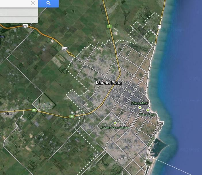 Mar del Plata, Argentina. Desde el norte del Mar del Plata vendría siendo observado el objeto volador no identificado.