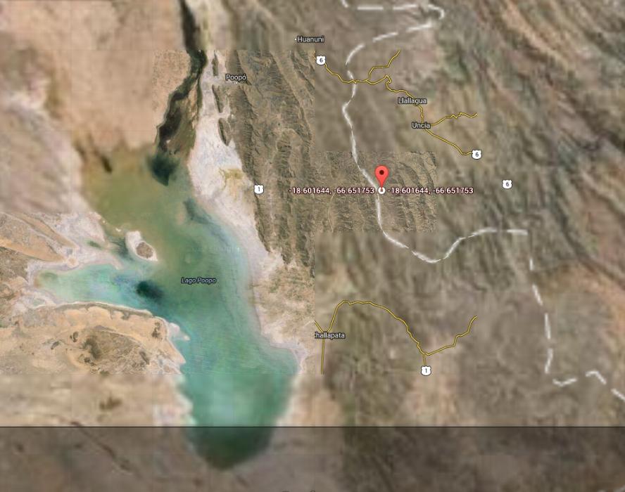Zona de Oruro, Bolivia en donde se encuentran las extrañas estructuras que reportó el testigo.