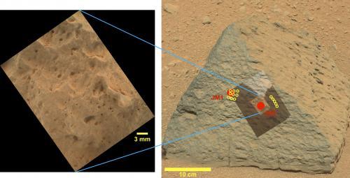 Imagen de la roca Jake_M obtenida por Curiosity.
