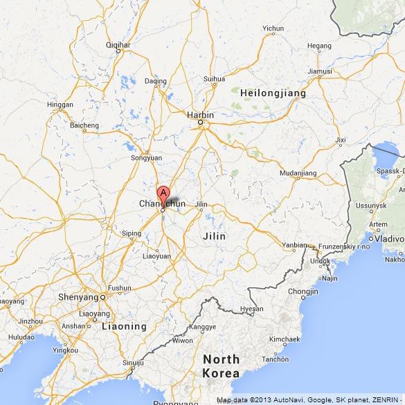 Ubicación de Campus de la Universidad de Julin en China Map. (Crédito: Google Maps)