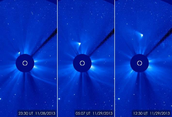 Indicios de ISON del otro lado del Sol
