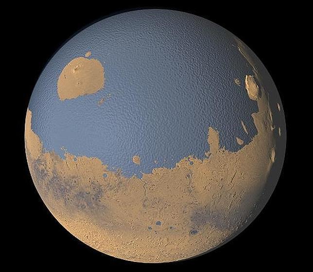 La NASA muestra cómo podría haber sido Marte antes del cambio climático