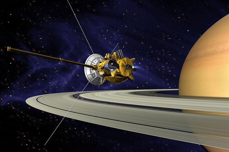 Cassini en la órbita de Saturno