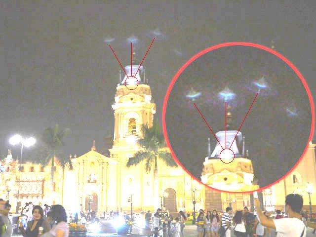 Reportan luces extrañas en el centro de Lima