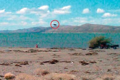 ¿Un OVNI en el lago Musters?