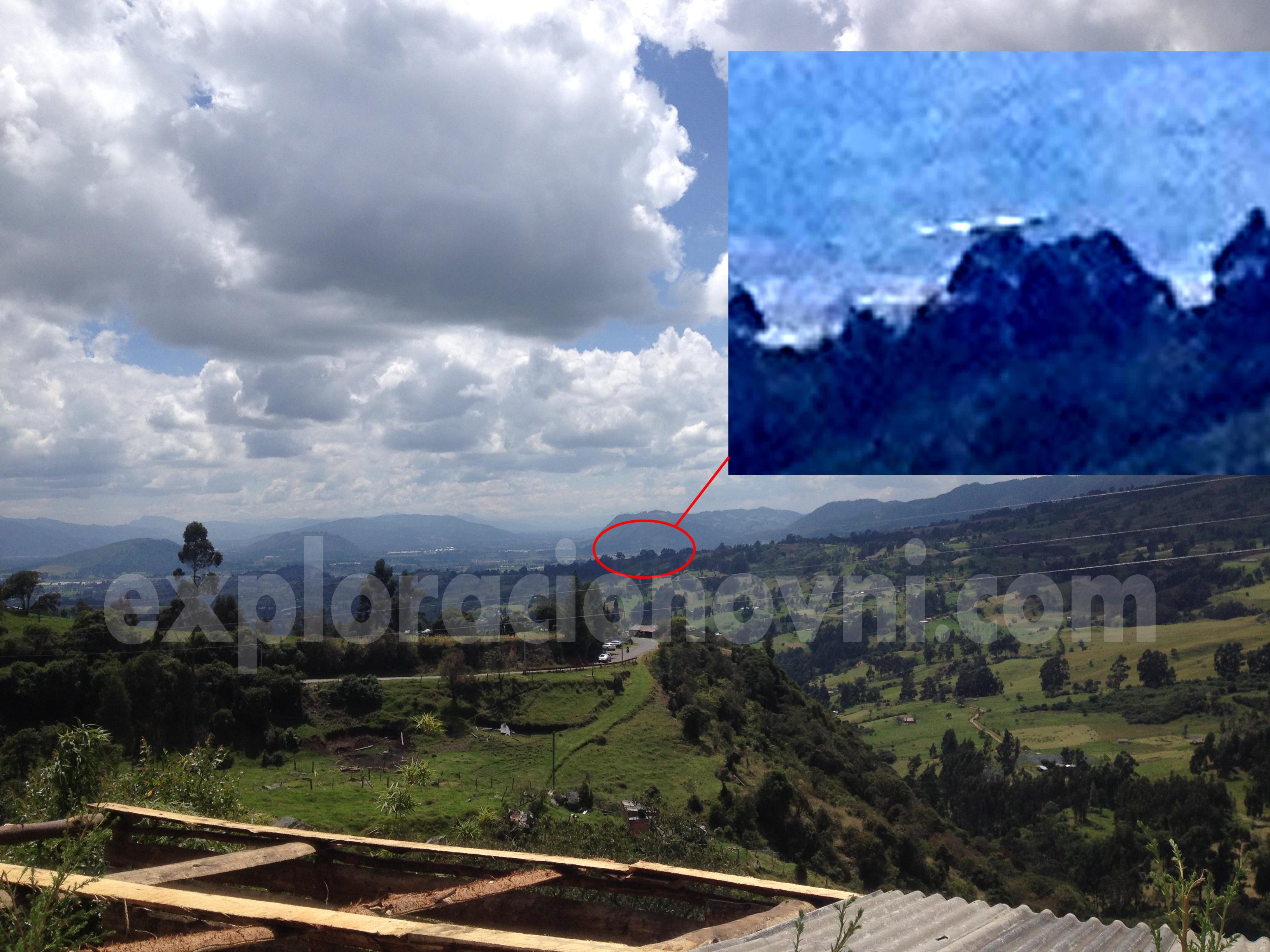 Objeto extraño captado sobre Embalse de Neusa, Cundinamarca, Colombia