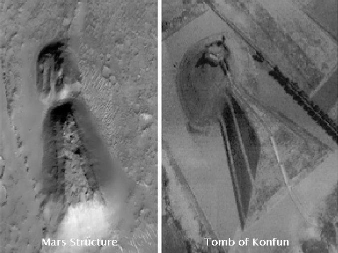 Descubren posible tumba en Marte